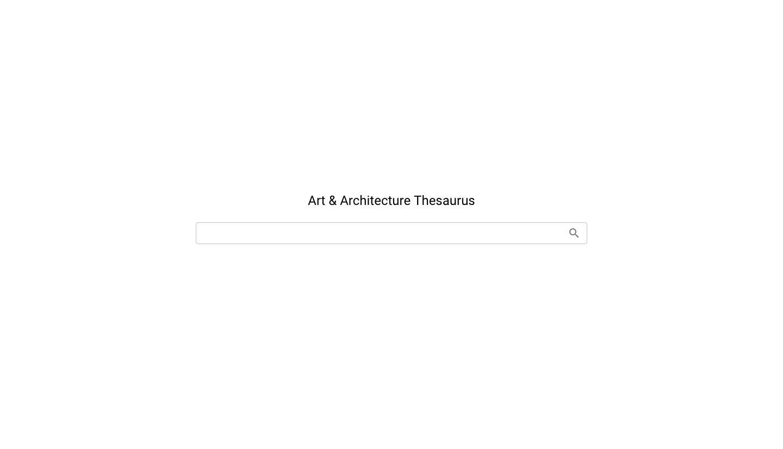 藝術與建築索引典